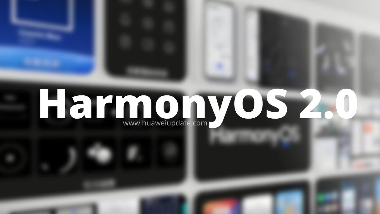 HarmonyOS 2.0 update