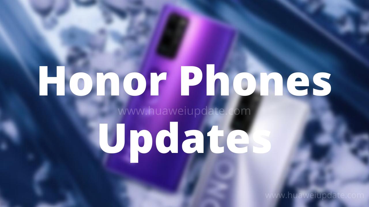 Honor Phones Updates