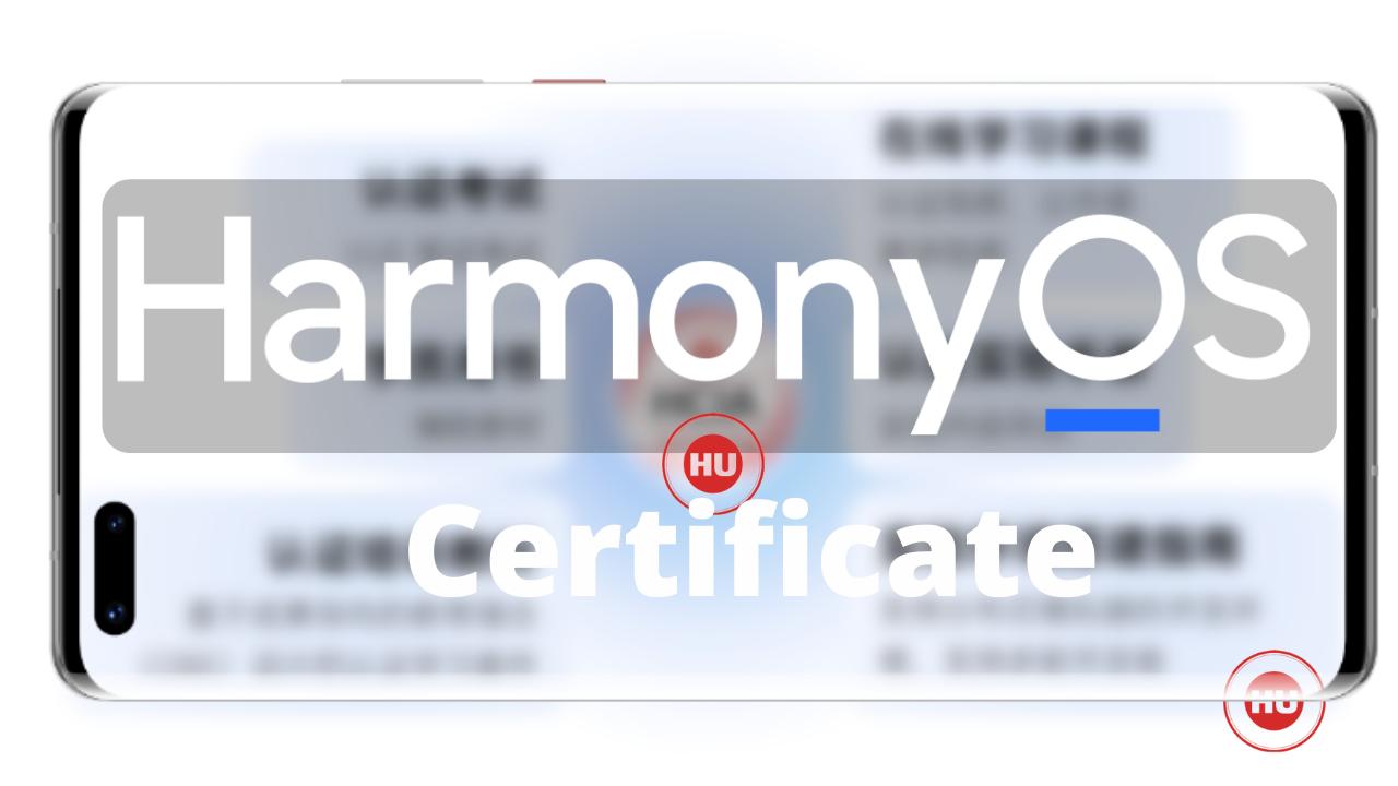 HarmonyOS Certificate