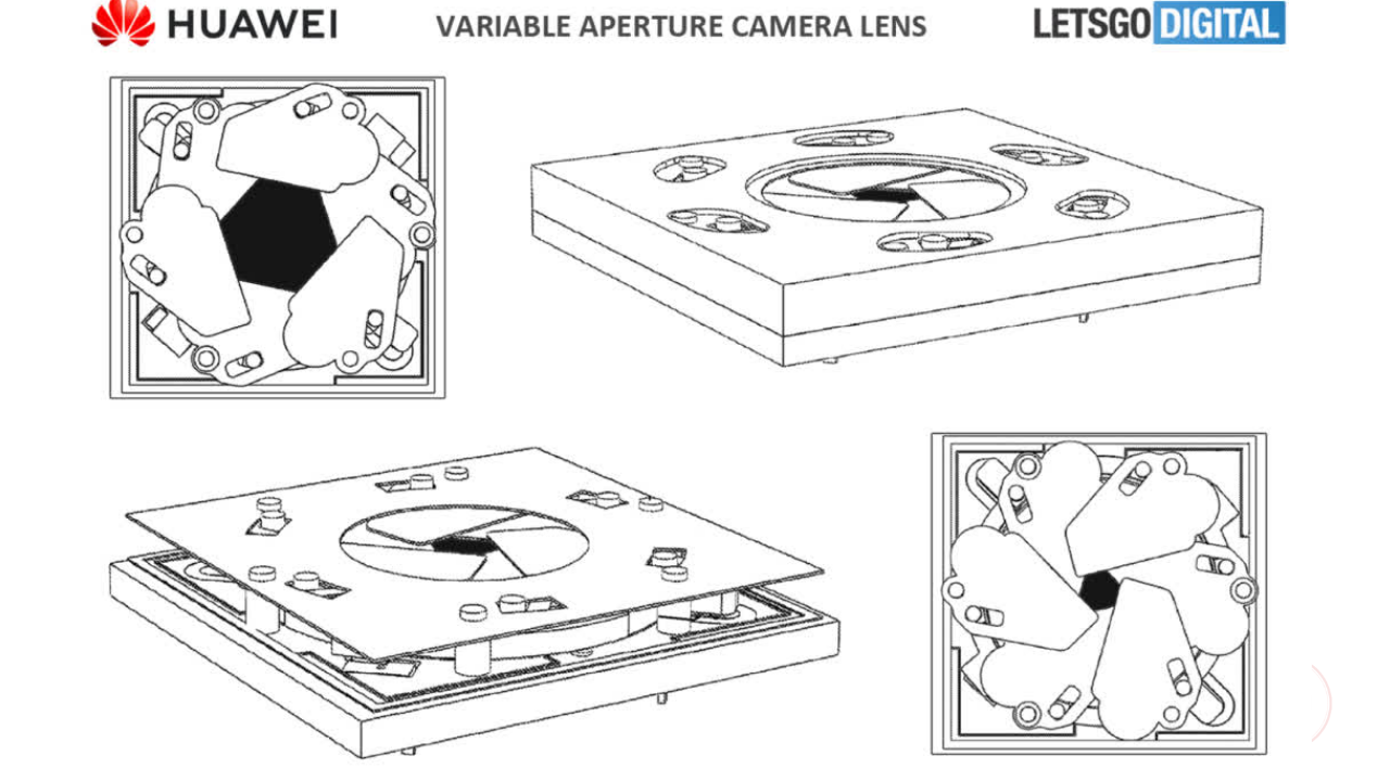 Camera patent with variable aperture