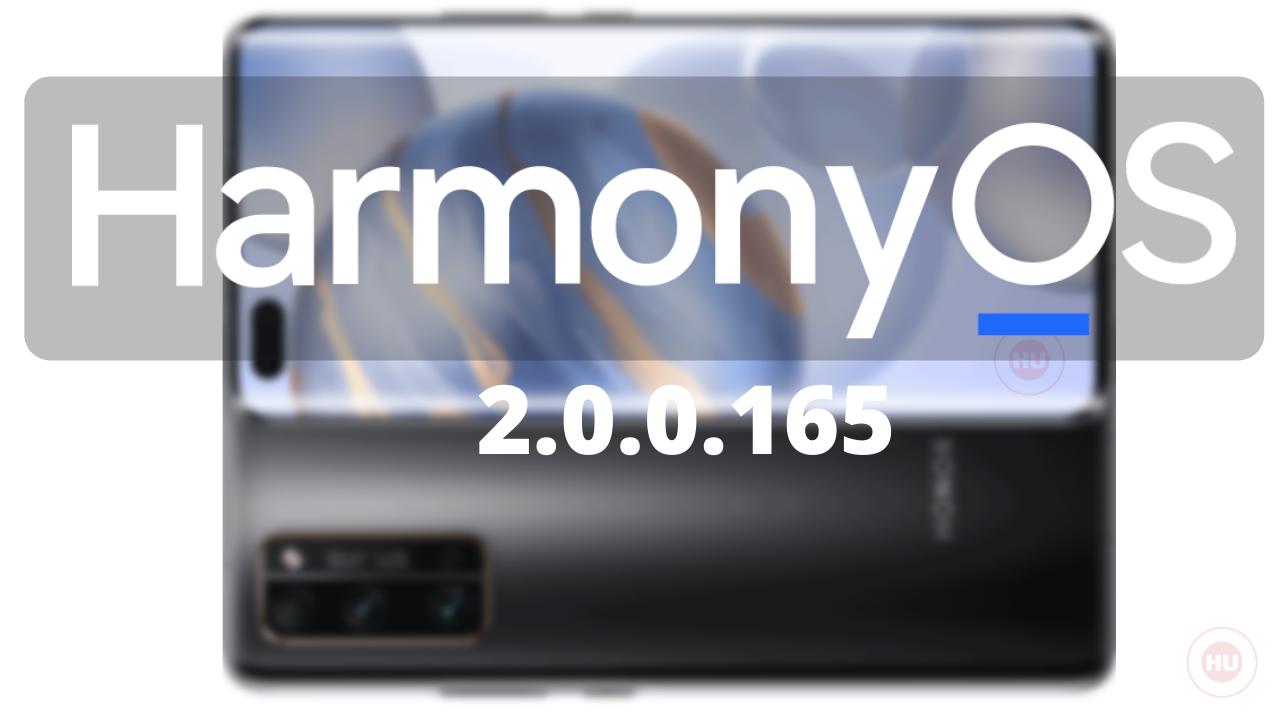 HarmonyOS 2.0.0.165 update Honor 30 Pro