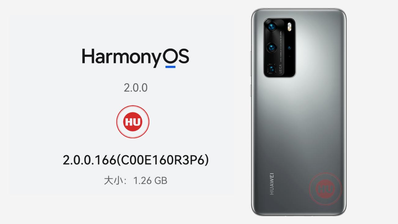 HarmonyOS 2.0.0.166 update