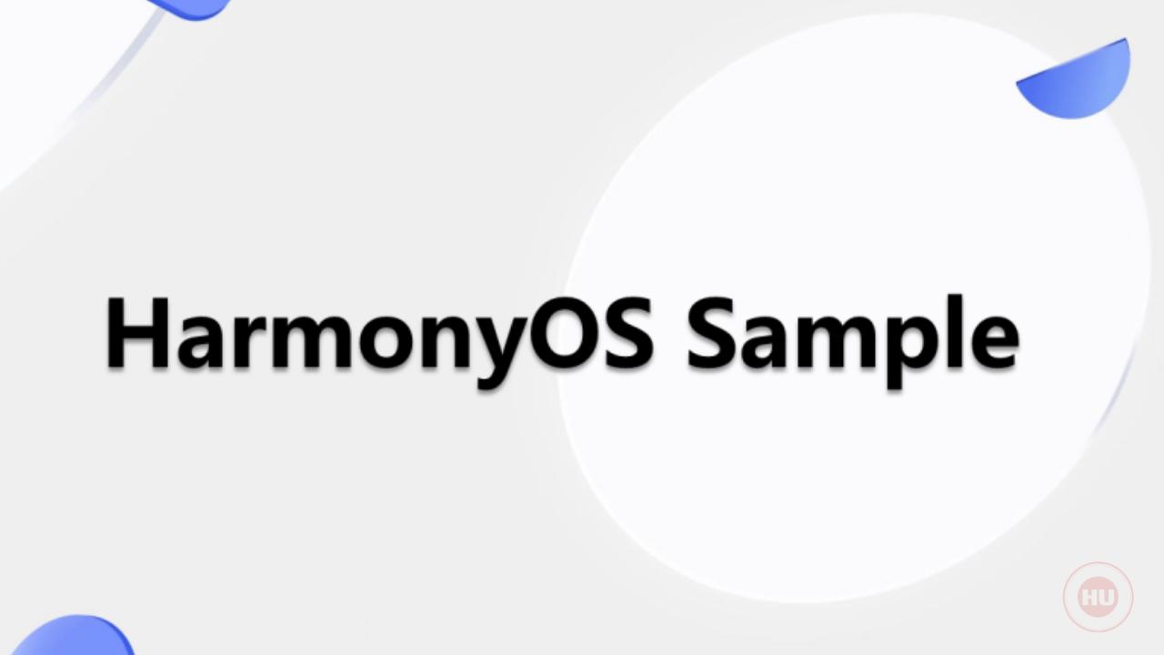 Huawei HarmonyOS Sample