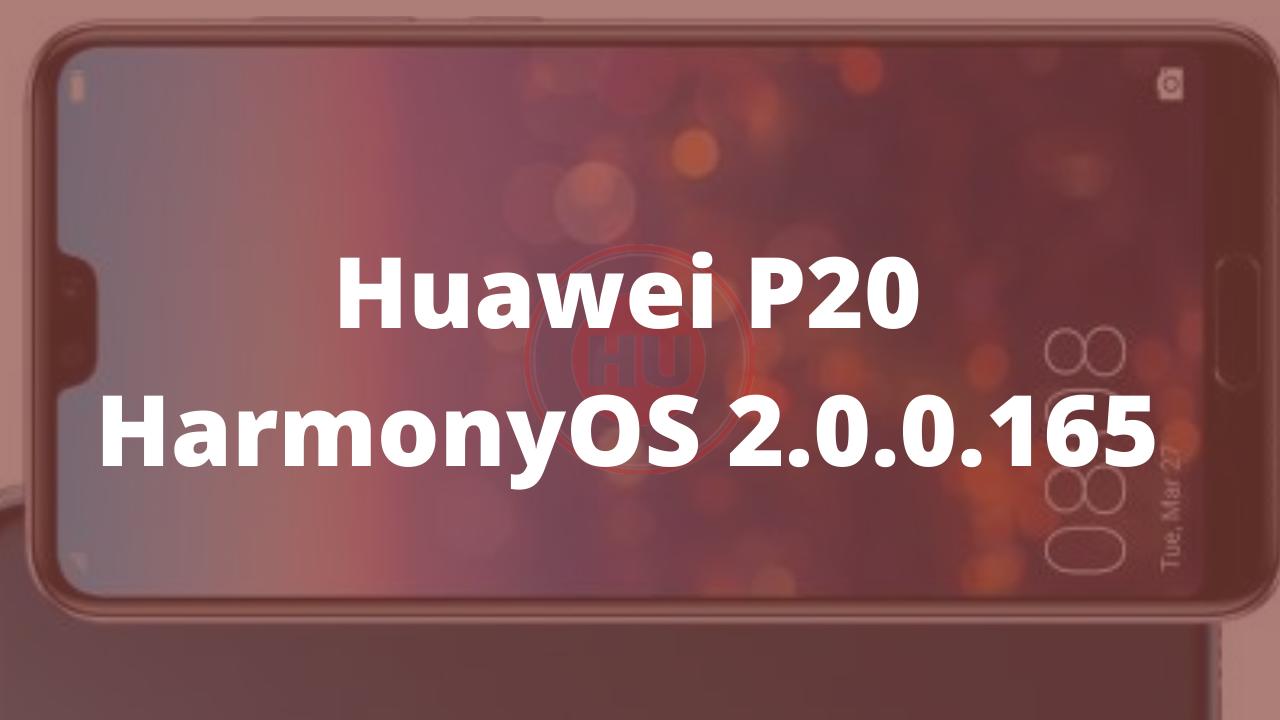 Huawei P20 HarmonyOS 2.0.0.165