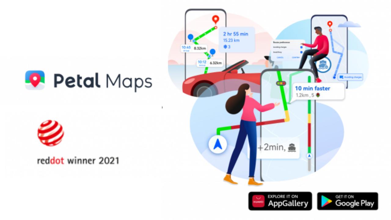 Huawei Petal Maps won Red Dot Design Award