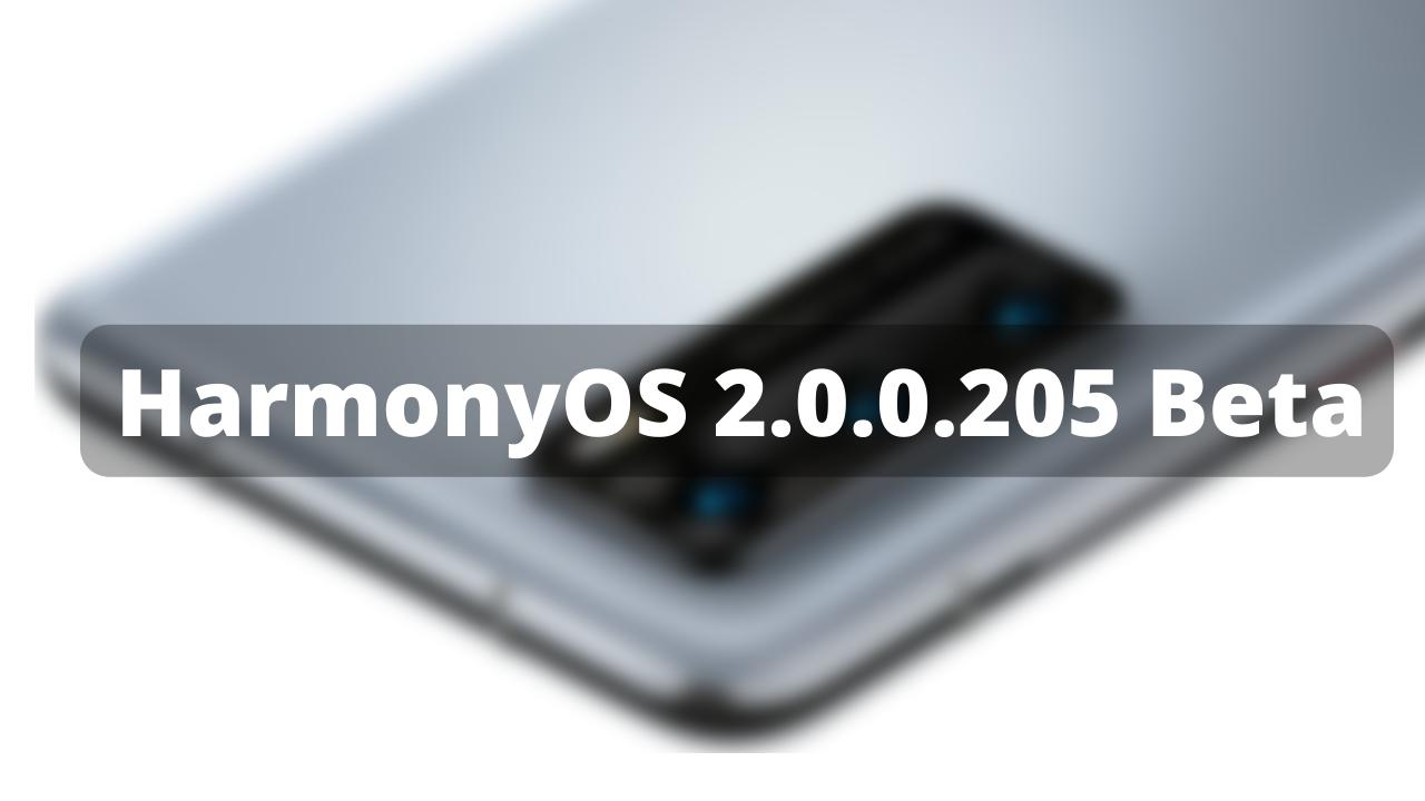 HarmonyOS 2.0.0.205 beta