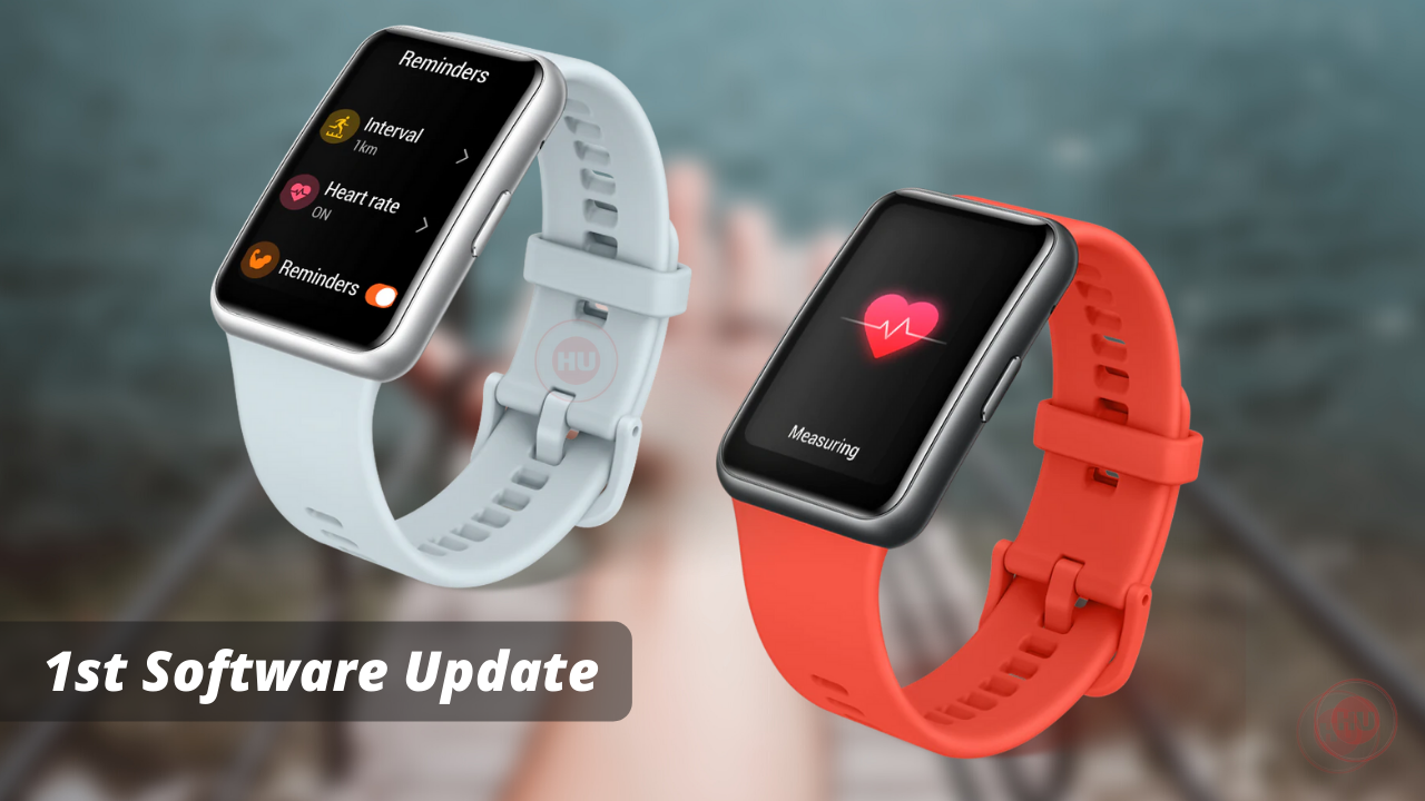 Huawei Watch Fit New First Software Update