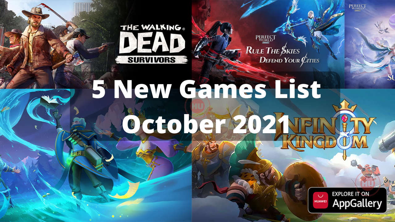 Huawei AppGallery October 2021 Games