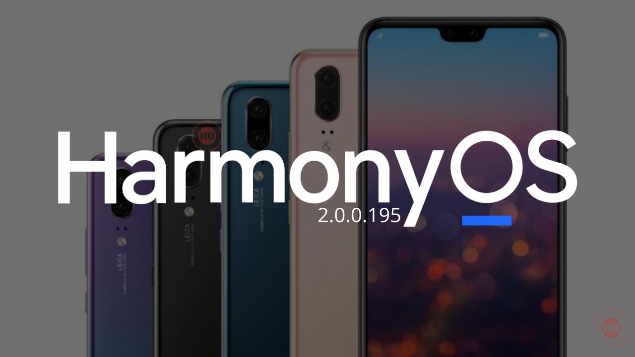 Huawei P20 Series HarmonyOS update